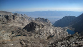 Panoramic Mountain View. From near the summit of mount whitney, looking east toward death valley Stock Images