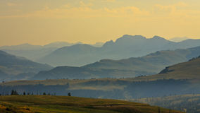 Panoramic Mountain View From Dunraven Pass Royalty Free Stock Image