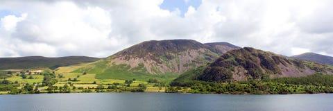 Panoramic mountain view Ennerdale Water Lake District National Park Cumbria England uk Stock Photos