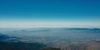 Panoramic mountain viewpoint of Kew Mae Pan scenery at Doi Inthanon national park , Chiang Mai , Thailand.  Royalty Free Stock Image