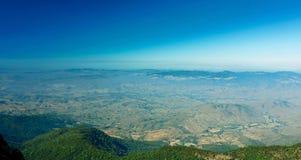 Panoramic mountain viewpoint of Kew Mae Pan scenery at Doi Inthanon national park , Chiang Mai , Thailand.  Royalty Free Stock Images