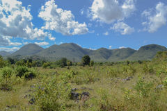 Panoramic mountain views, Inle lake. Myanmar, Burma Royalty Free Stock Images