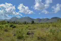Panoramic mountain views, Inle lake. Myanmar, Burma Royalty Free Stock Image