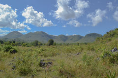 Panoramic mountain views, Inle lake. Myanmar, Burma Royalty Free Stock Photography