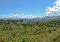 Panoramic mountain views, Inle lake. Myanmar, Burma Stock Photos