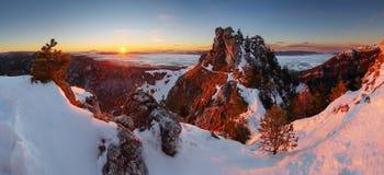Panoramic mountain winter landscape, Slovakia Stock Photo