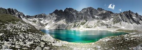 Panoramic mountains. Panoramic view on lake and mountains Stock Photos