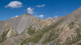 Panoramic mountains. View from the Col d'Isoard in the Queyras, France Royalty Free Stock Photography