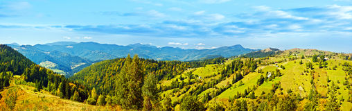 Panoramic mountains landscape Royalty Free Stock Photography