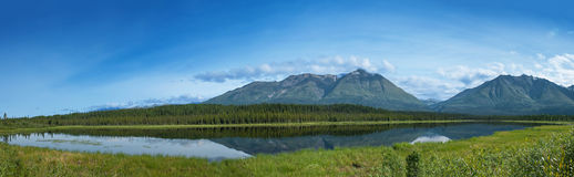 Panoramic mountains Royalty Free Stock Image