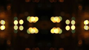 Panoramic movement defocused night lights Stock Photos