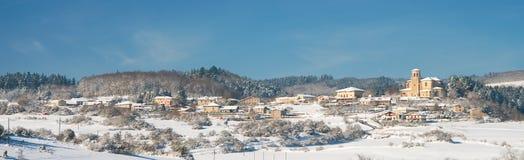 Panoramic of Murua. Alava, Spain Royalty Free Stock Images