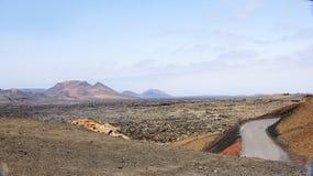 Panoramic Natural Park Timanfaya Royalty Free Stock Image