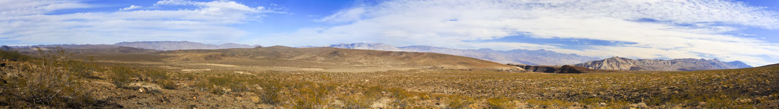 Panoramic of Nevada desert Royalty Free Stock Photo