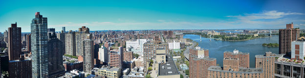 Panoramic New York City view Royalty Free Stock Photography