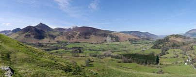 Panoramic of the Newlands Valley, Lake District Royalty Free Stock Images