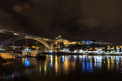 Panoramic night of Porto Stock Photo