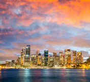 Panoramic night skyline of Sydney Royalty Free Stock Image