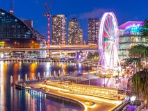 Free Panoramic Night View Of Sydney Harbour And City Skyline Of Darling Harbour And Barangaroo Australia Royalty Free Stock Photos - 221550548