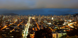 Panoramic Night view of Santos. Panoramic view of Santos at night Royalty Free Stock Images