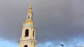 Panoramic of Nikolsky Cathedral stock footage
