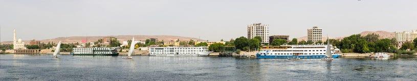 Panoramic Nile shore Royalty Free Stock Photos