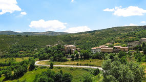 Panoramic noon of the Catalan Pyrenees. Spain Royalty Free Stock Photos
