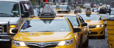Panoramic NY taxi Royalty Free Stock Images