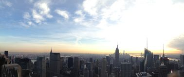 Panoramic NYC Royalty Free Stock Images