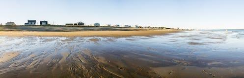 Panoramic ocean beach Stock Photos