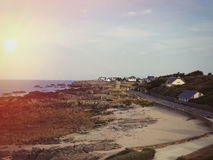 Panoramic ocean in Brittany Stock Photos