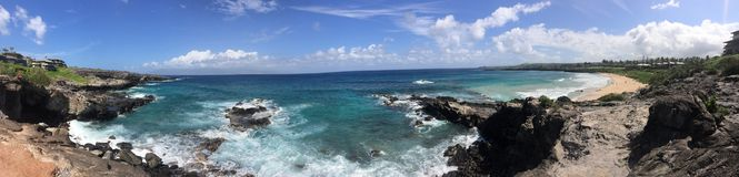 Panoramic ocean view Stock Photos