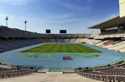 Olympic stadium in Barcelona. Panoramic olympic empty stadium in Barcelona, Spain Stock Images