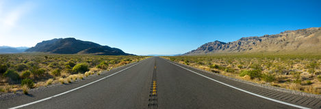 Panoramic Open Road Stock Photography