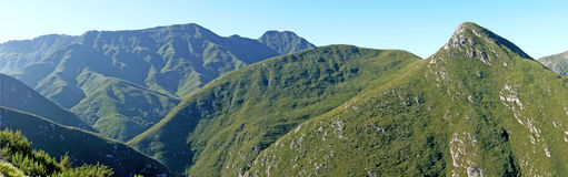 Panoramic of the Outeniqua Mountains Stock Photography