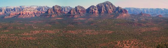 Panoramic Overlook from Red Rock Summit Stock Images