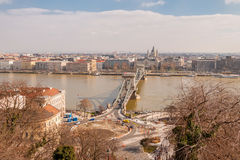 Panoramic overview of Budapest city Royalty Free Stock Photography