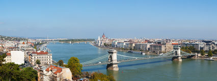 Panoramic overview of Budapest, Hungary Royalty Free Stock Images