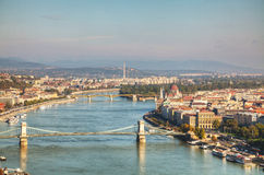 Panoramic overview of Budapest, Hungary Royalty Free Stock Image