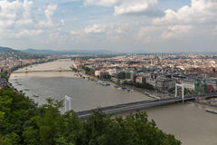 Panoramic overview of Budapest. Royalty Free Stock Image