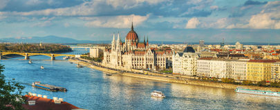Panoramic overview of Budapest Stock Image