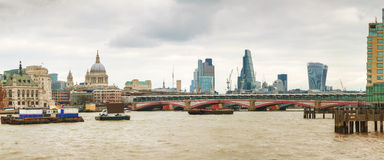 Panoramic overview of City of London Royalty Free Stock Photography
