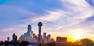 Panoramic overview of downtown Dallas Royalty Free Stock Photos