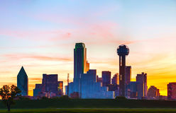 Panoramic overview of downtown Dallas Royalty Free Stock Photo
