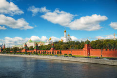 Panoramic overview of downtown Moscow with Kremlin Royalty Free Stock Images