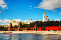 Panoramic overview of downtown Moscow with Kremlin Stock Images