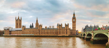 Panoramic overview of the Houses of Parliament Stock Images