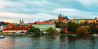 Panoramic overview of old Prague Royalty Free Stock Photos