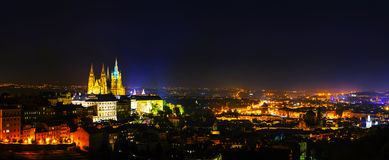 Panoramic overview of Prague Royalty Free Stock Image