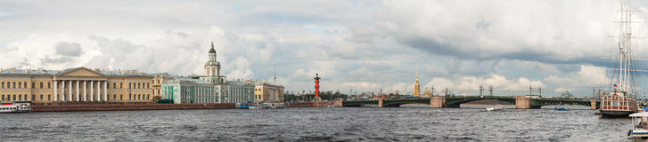 Panoramic overview of Saint Petersburg, Russia Stock Photography